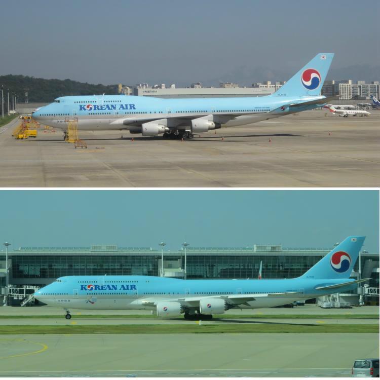 KE-B747-400-vs-B747-8