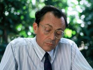 Michel Rocard pendant l'Universite d'ete des Jeunes Rocardiens. Montpellier, FRANCE - 04/09/1987.
