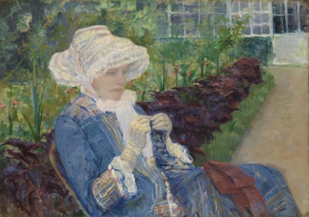 Lydia Crocheting in the Garden at Marly by Mary Cassatt, 1880