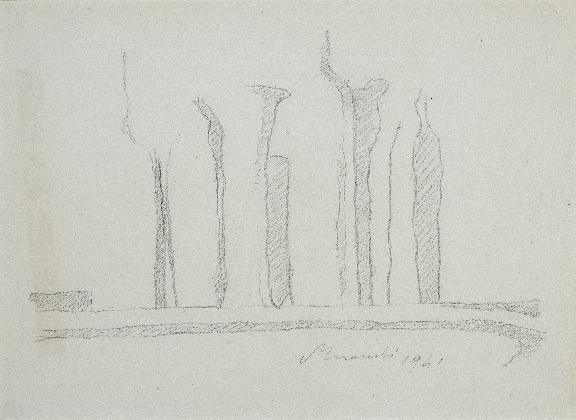 조르조 모란디, <정물>, 1941, 종이에 연필, Museo Morandi, Bologna-Italy (TP. 1941/5)
