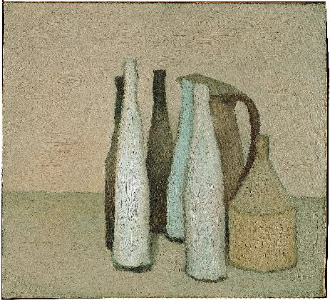 조르조 모란디, <정물>, 1951 캔버스에 유채, Museo Morandi, Bologna-Italy (V.788)