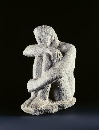 여인좌상.  〈춘몽〉, 1968~69년, 대리석
