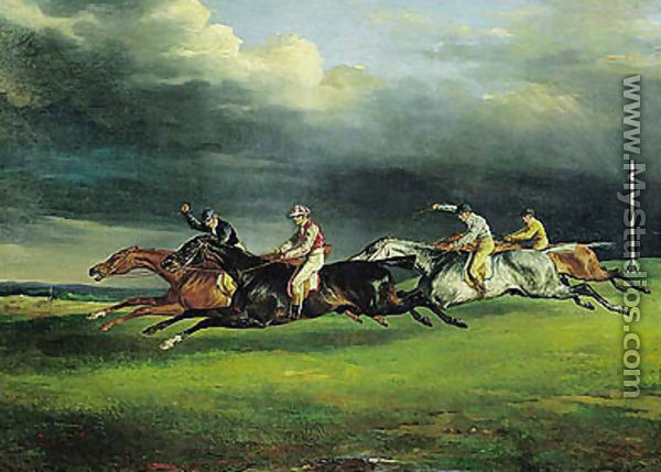 Derby at Epsom - Theodore Gericault