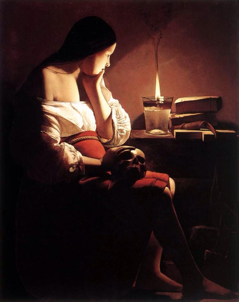 '등불아래 참회하는 막달레나(The Penitent Magdalen with Night Light)(뉴욕 메트로폴리탄 미술관)