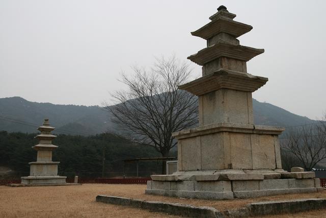 5 보물 제72호와 73호인 단속사지 삼층석탑.JPG