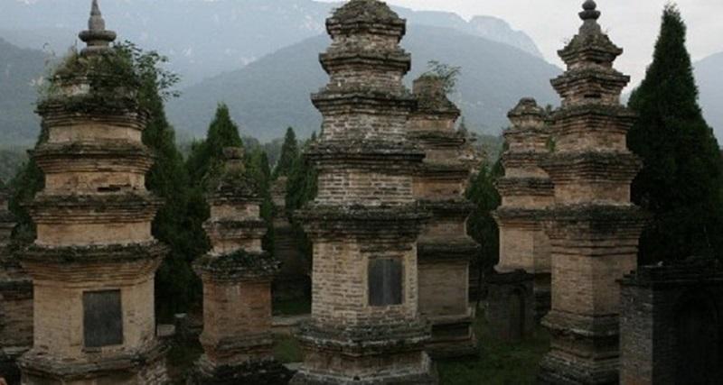 중국에서 가장 많은 수의 탑이 있는 묘탑은 소림사 역대 고승들의 무덤으로 면적이 14,000㎡에 달하며, 묘탑수도 240여기나 된다.
