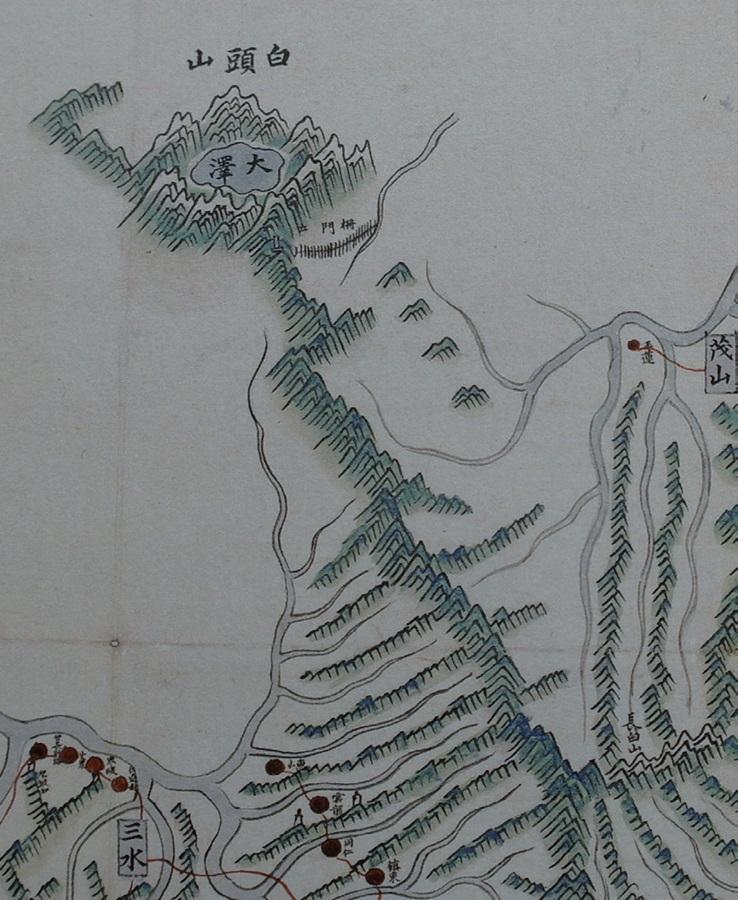 지도3. 18세기에 제작된 는 백두산을 천산(天山)으로 인식하는 사고가 그대로 반영돼 있다. 서울대규장각 소장