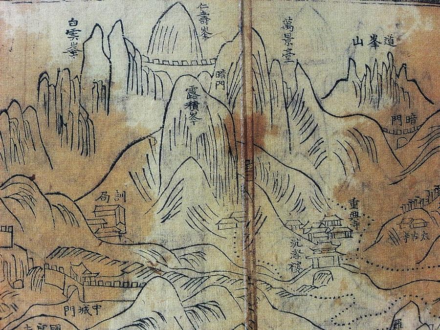 북한지(1745)의 북한도(2). 서울역사박물관 소장본