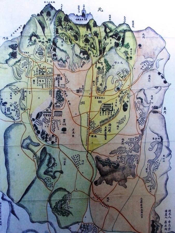 이내언이 1929년 그린 신도안 지도(계룡시청).