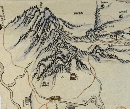 1872년 군현지도(과천)의 관악산. 회화적인 필치로 묘사됐다.
