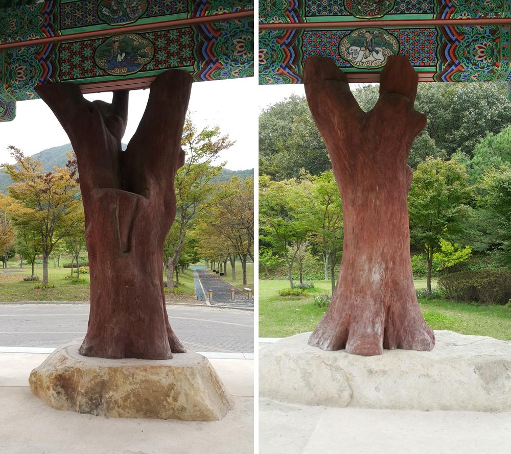 느티나무기둥