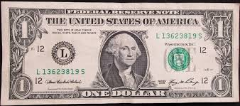 One dollar bill (front)