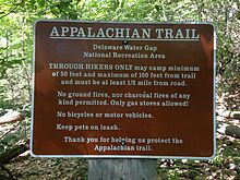 2014-08-25_10_50_03_Sign_for_the_Appalachian_Trail_along_Millbrook_Road_in_the_Delaware_Water_Gap_National_Recreation_Area,_New_Jersey